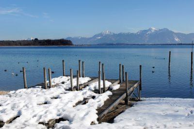 Der Chiemsee im Winter (Chiemgau)