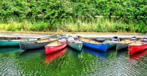 Kanus auf dem Altmühlsee