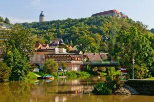 Blick auf Freyburg an der Saale - Saale-Unstrut-Region