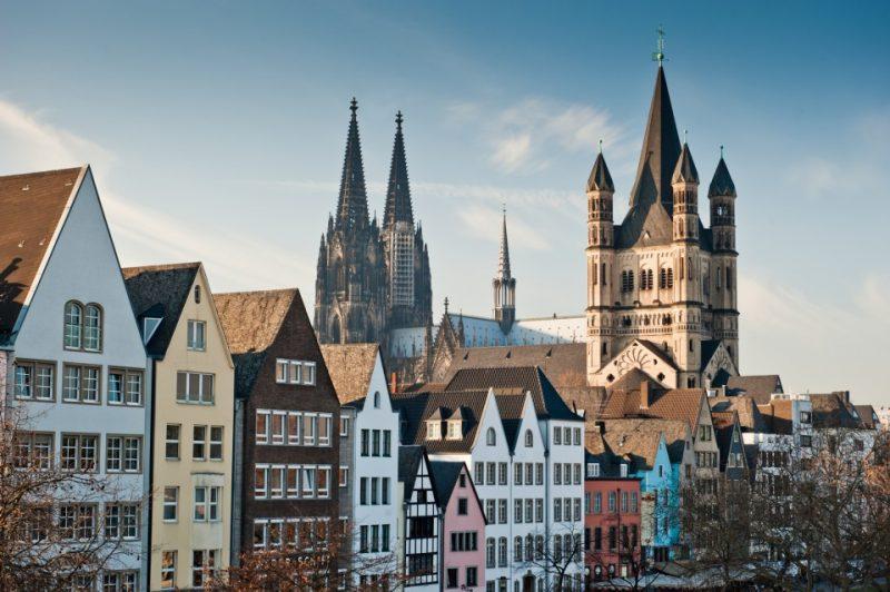 Blick auf die Kölner Innenstadt und den Dom