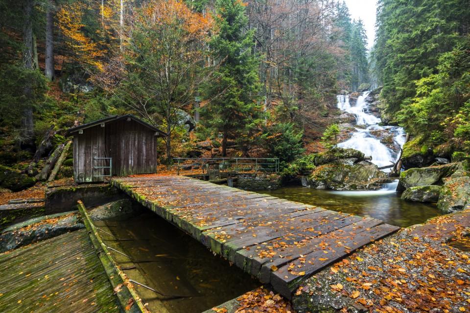 Nationalpark Bayerischer Wald - Wasserfall Rießloch im Herbst