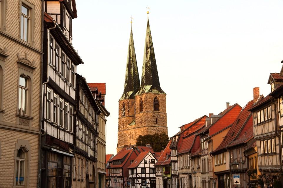 Blick auf die Altstadt in Quedlinburg