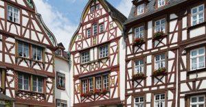 Fachwerkhaus in Altstadt in Mosel Saar Gebiet