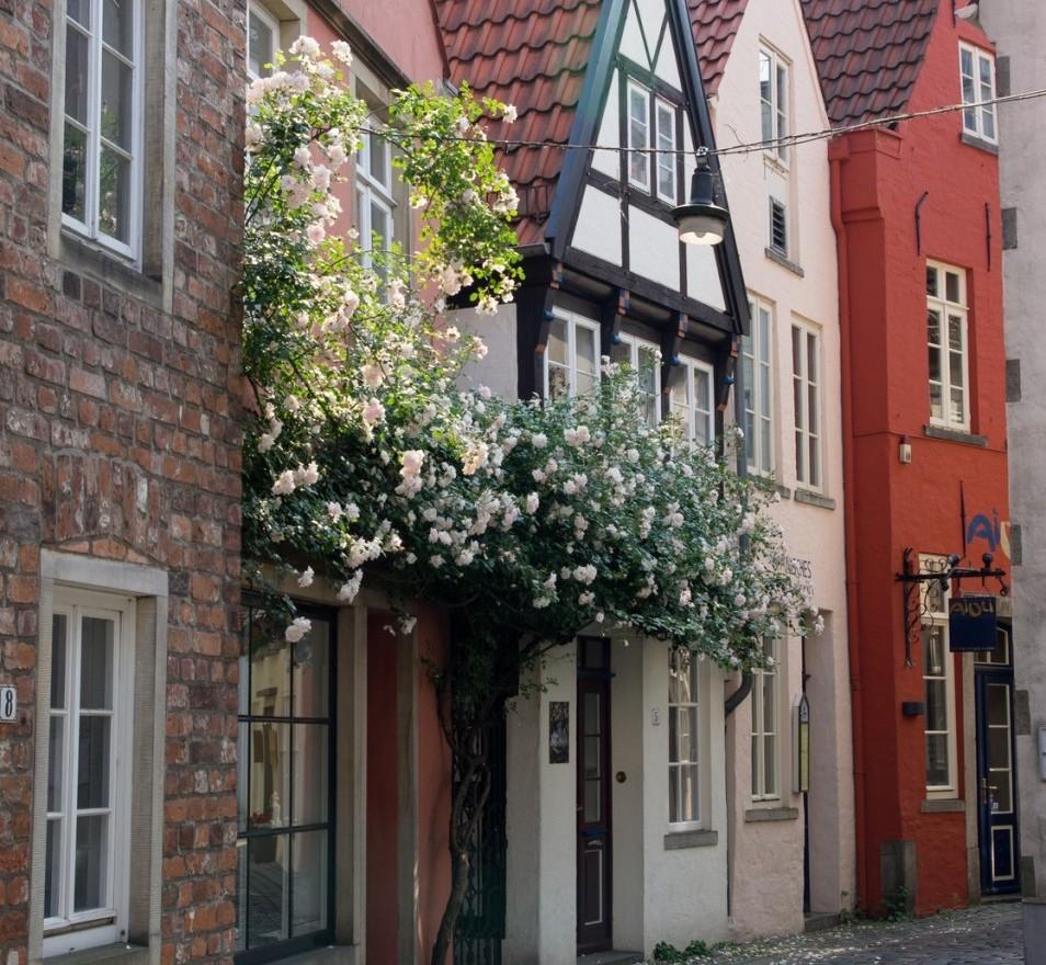 Schnoor-Viertel in der Hansestadt Bremen, Deutschland