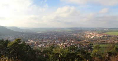 Panoramablick vom Dünkreuz (Eichsfeld, Thüringen, Deutschland)
