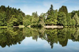 Naherholungsgebiet Ebnisee im schwäbischen Wald