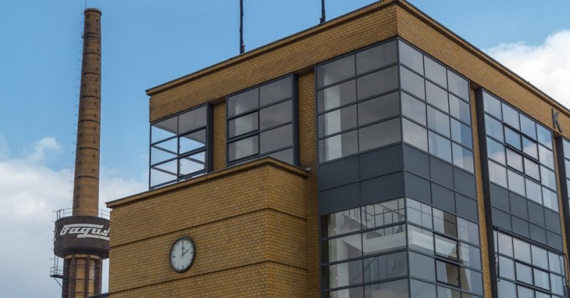 Detailansicht der Fagus-Werke in Alfeld