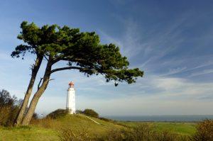 Insel Hiddensee mit Leuchtturm