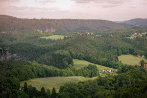Die Landschaft der Sächsischen Schweiz