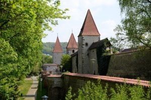 Stadtmauer in Amberg in Franken