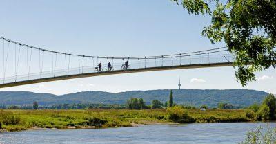 Die Glacisbrücke in Minden an der Weser