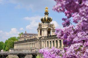 Zwinger in Dresden im Frühling