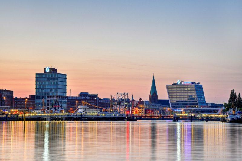 Kiel, Hafen am Abend