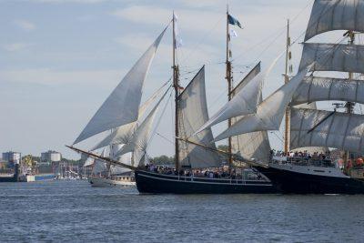 Kieler Woche auf der Ostsee, Segelschiffe