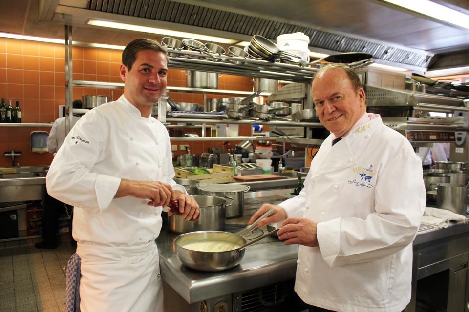 Heinz Winkler und Steffen Mezger im Residenz Gourmet Restaurant Heinz Winkler