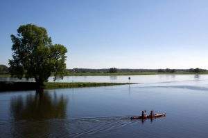 Auf der Elbe bei Wittenberge
