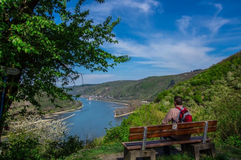 Aussichtspunkt am Rheinsteig bei Kaub