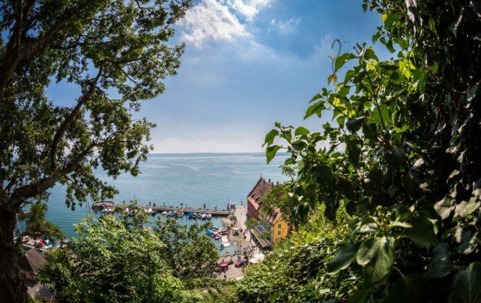 Meersburger Hafen im Sommer - Bodensee
