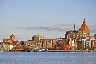 Blick auf die Altstadt der Hansestadt Rostock