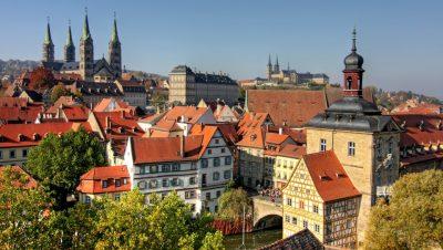 Blick auf die Altstadt von Bamberg