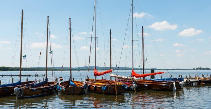 Boote auf dem Steinhuder Meer