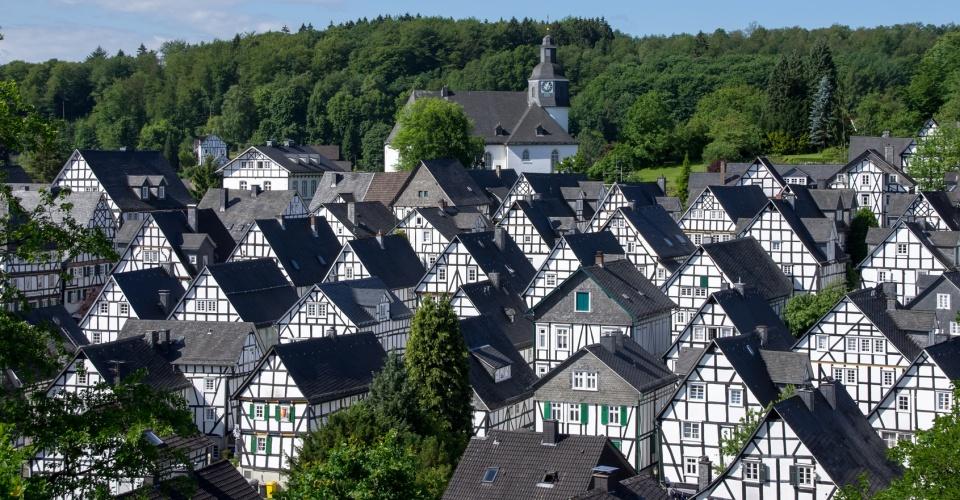 Fachwerkhäuser in Freudenberg im Siegerland