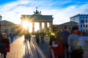 Frühling am Brandenburger Tor