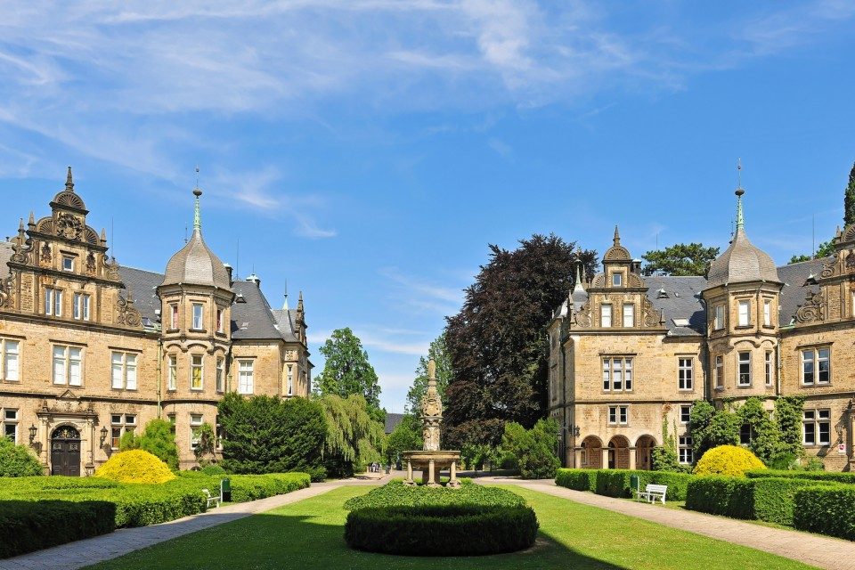 Schlosshof Schloss Bückeburg, Stammsitz der Fürsten zu Schaumburg-Lippe