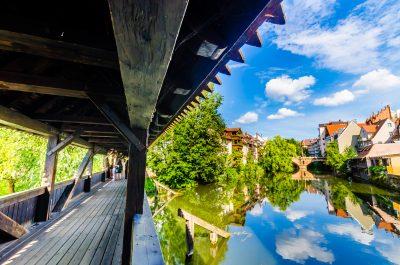 Altstadt im Sommer auf der Romantischen Strasse von Füssen bis Würzburg