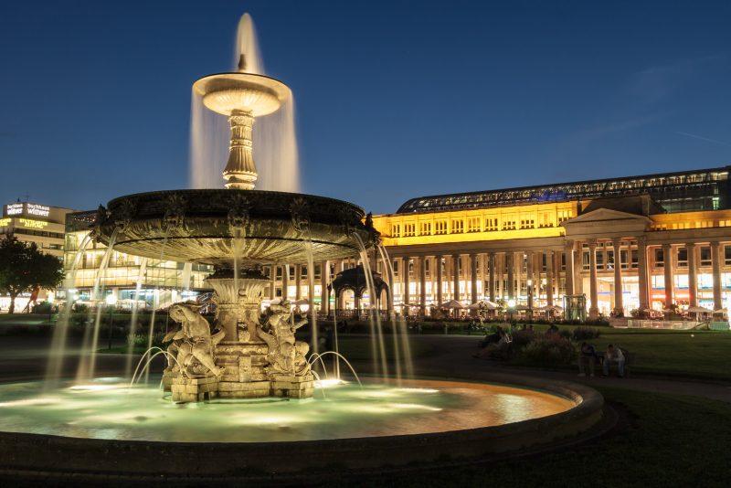 Stuttgart: Impressionen der Stadt, Brunnen