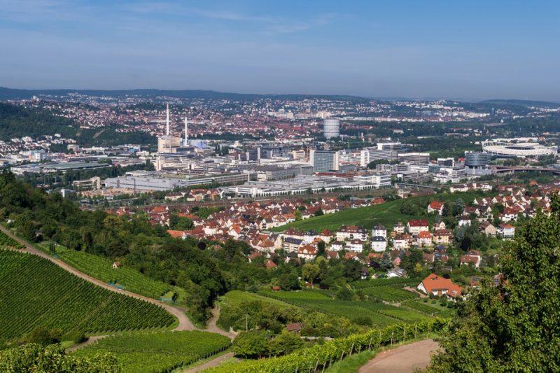 Mit dem Flugzeug über die Region Stuttgart