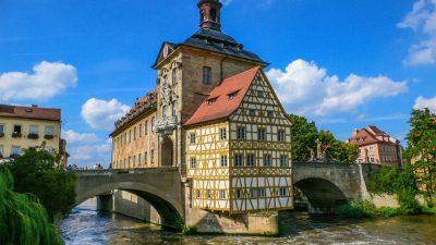Das Rathaus von Bamberg Bayern