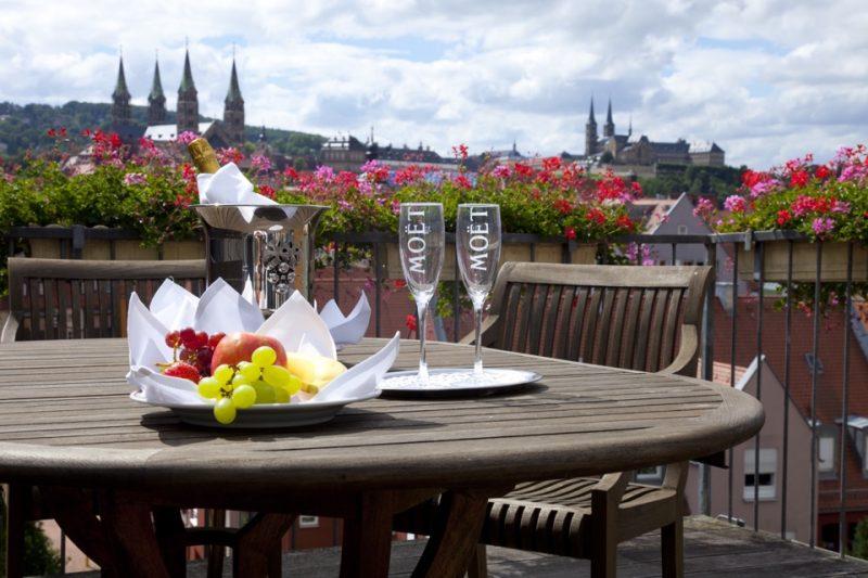 Hotel Bamberger Hof: Ausblick auf Bamberg