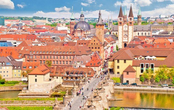 Blick auf die Würzburger Altstadt