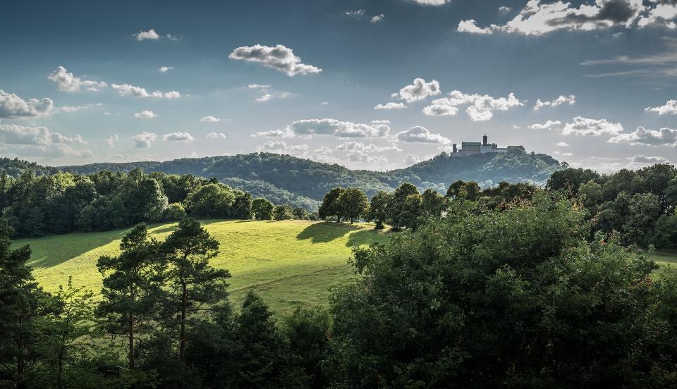 Blick auf die Wartburg - Thüringer Wald / Schiefergebirge