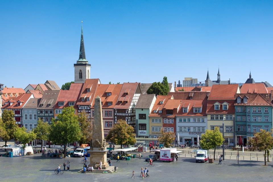 Stadtansicht von Erfurt in Thüringen