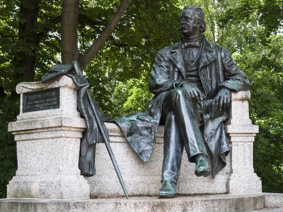 Theodor Fontane Denkmal in Neuruppin