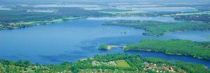 Der Senftenberger See aus der Vogelperspektive