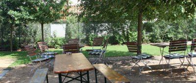 Hofladen-Garten der Gläsernen Molkerei in Münchehofe