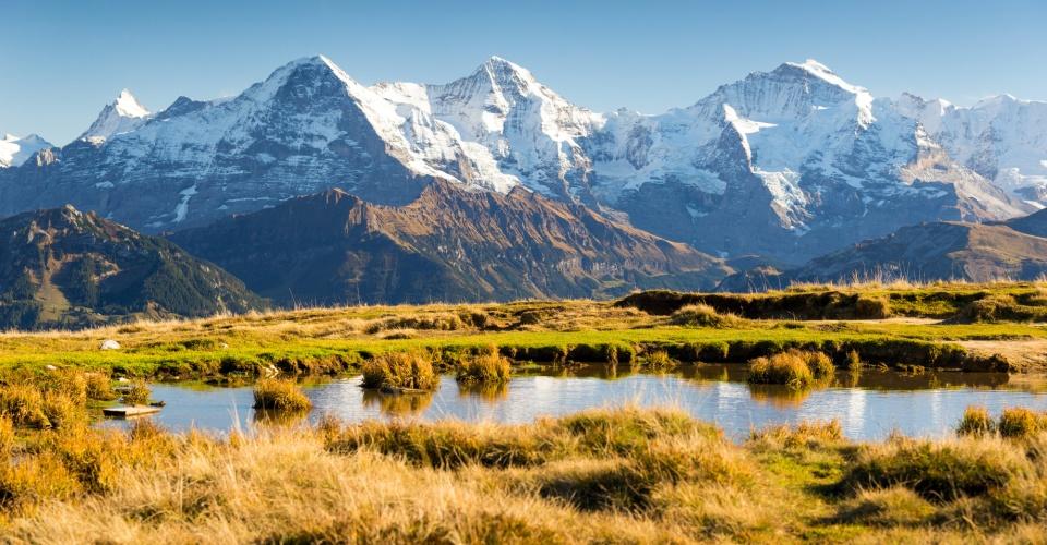 Eiger, Mönch und Jungfrau im Berner Oberland
