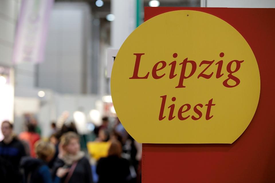 Schild Leipziger Buchmesse