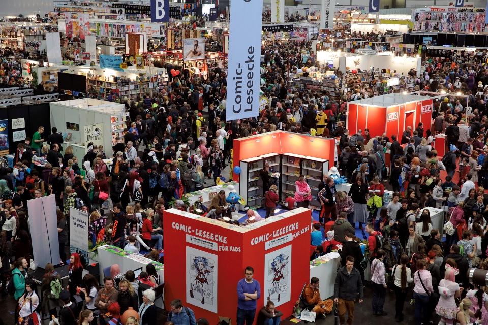 Ausstellungshalle bei der Manga Comic Convention Leipzig