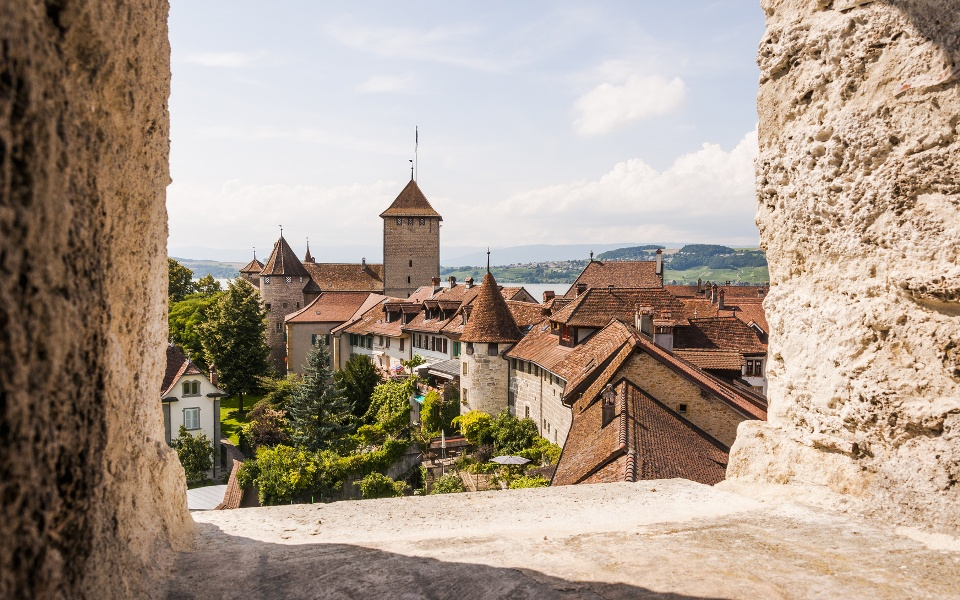 Murten, Schweiz, historische Altstadt