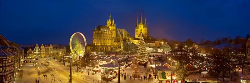 Panoramabild Erfurter Weihnachtsmarkt