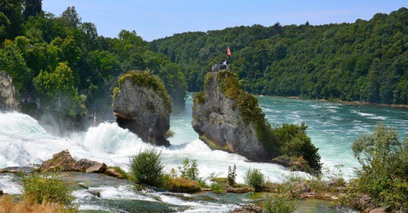 Sicht auf den Rheinfall (Schweiz)