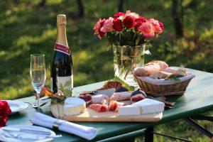 Picknick im Weinberg