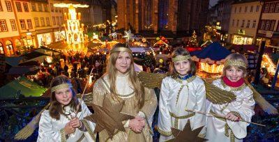 Christkind eröffnet den Heidelberger Weihnachtsmarkt