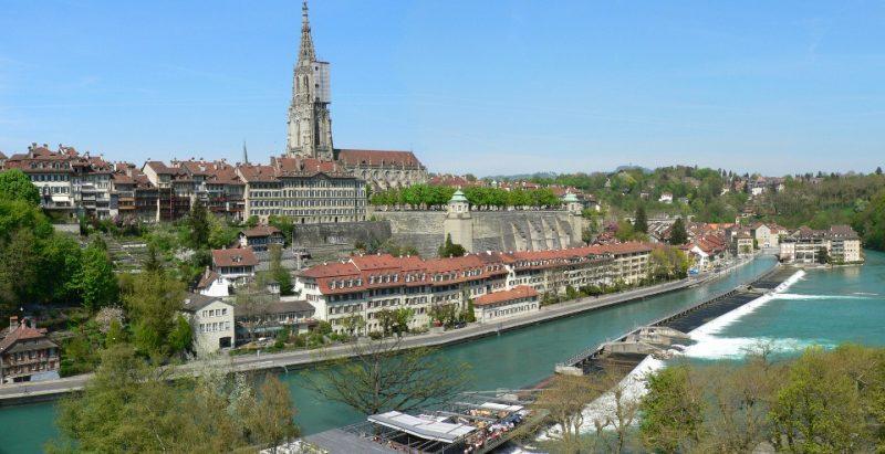 Aareufer in Bern