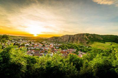 Sonnenuntergang über Bad Münster am Stein Ebernburg