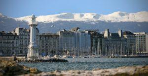 Leuchtturm auf dem Genfer See